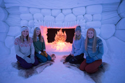 Fireplace in the Snowhotel