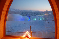 Snowhotel view