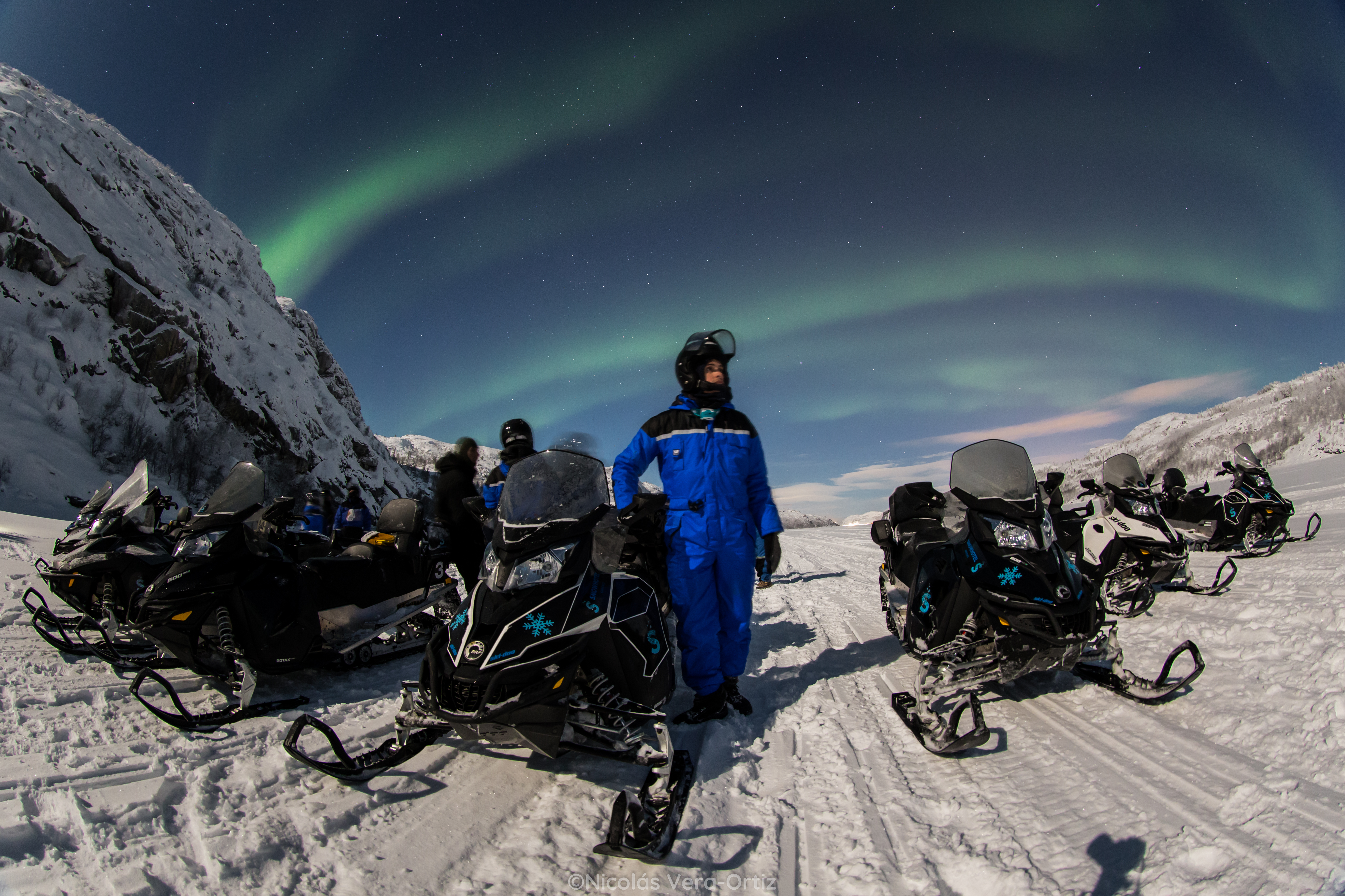 Snowmobiles and Aurora