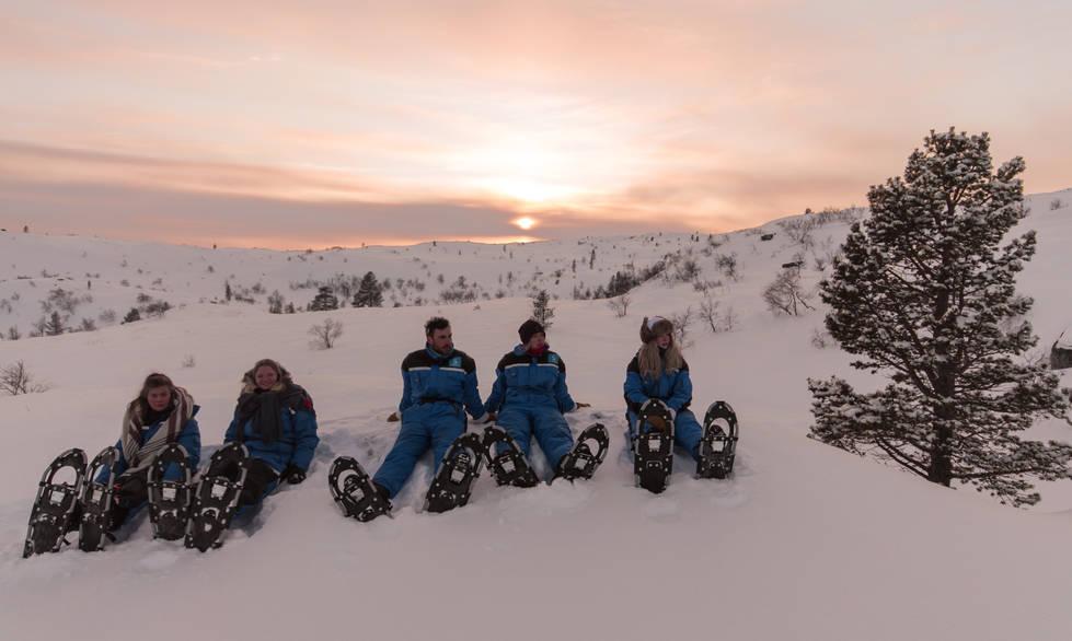 Snowshoe walking in Kirkenes, Norway