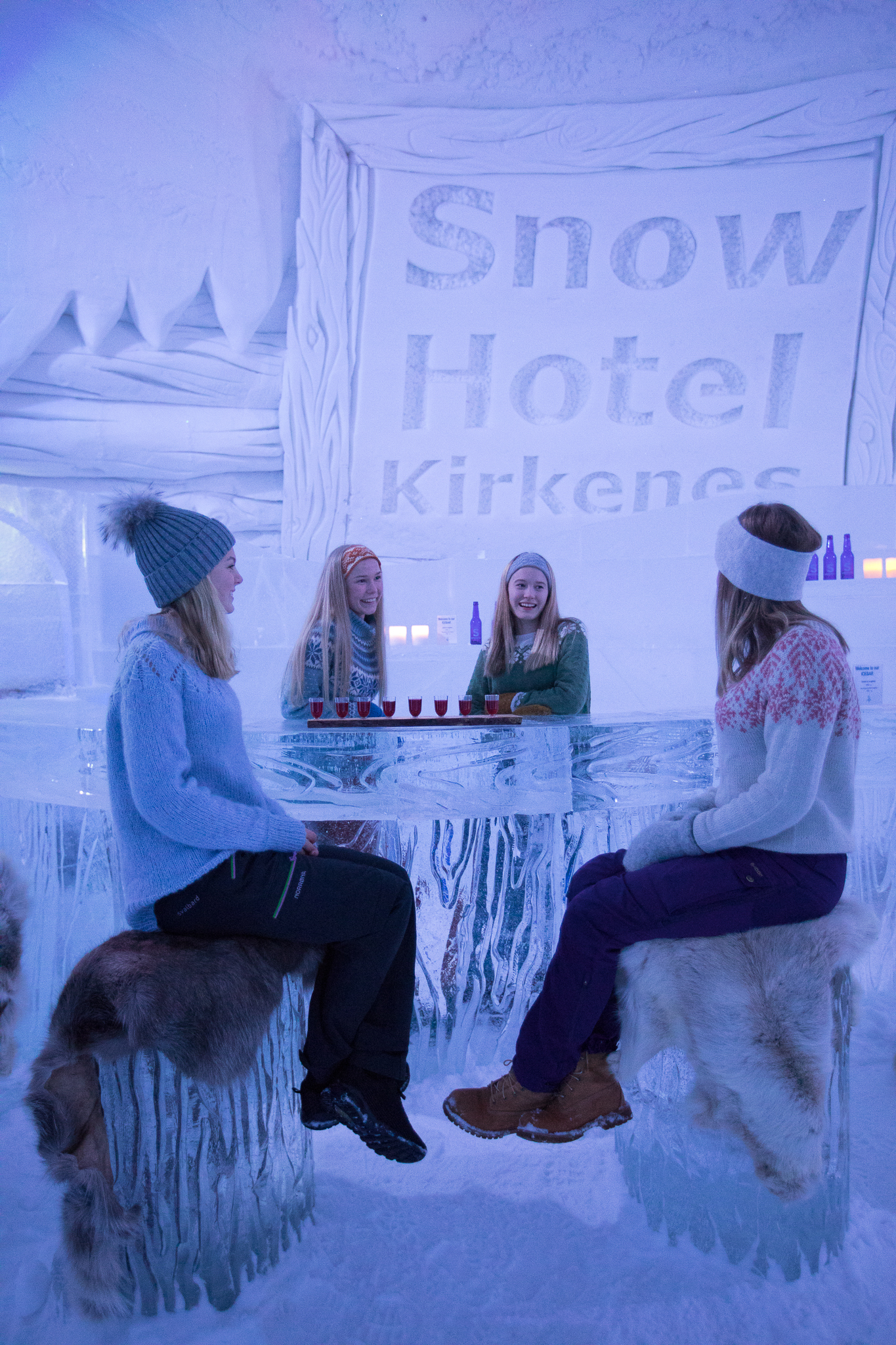 Girls in the icebar