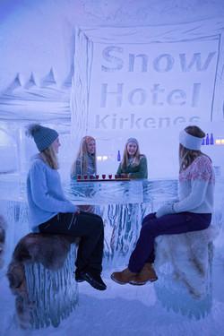 Girls in the icebar