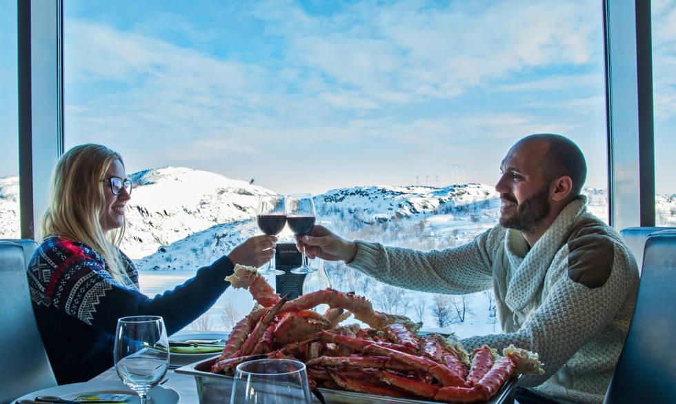 King crab lunch in Høyloftet