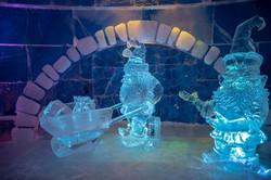Ice sculptures Snowhotel Kirkenes