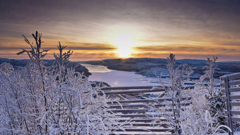 View of fjord in Kirkenes by Snowhotel Kirkenes