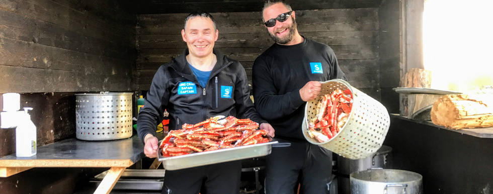 Freshly cooked King Crab