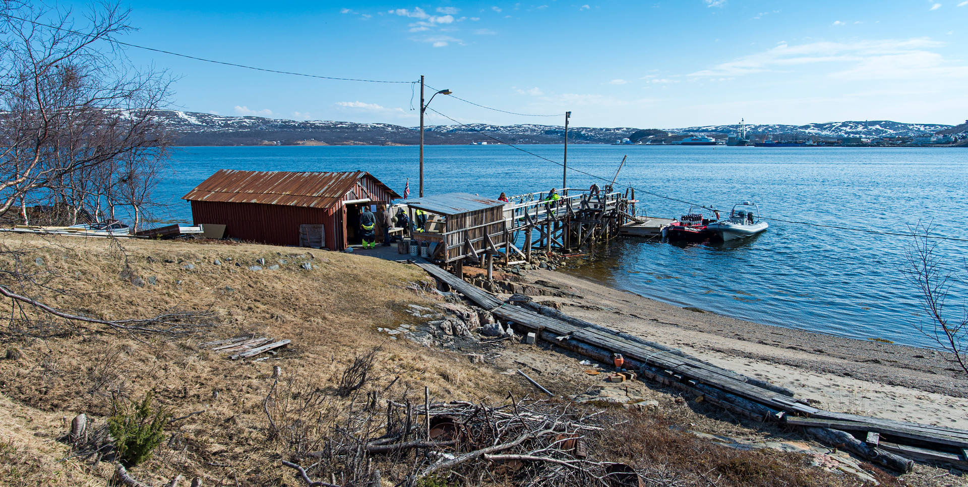 Boat house by the fjord, kirkenes