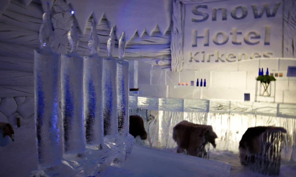 Snow restaurant Kirkenes.