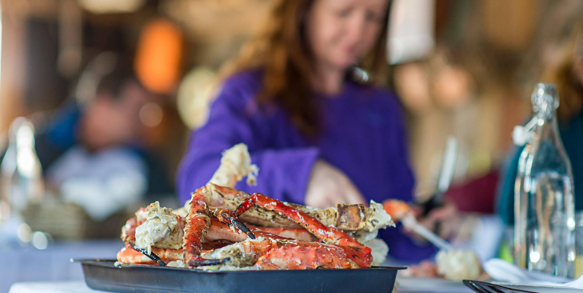 Juicy king crab legs