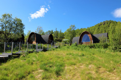 Gamme cabins in summer