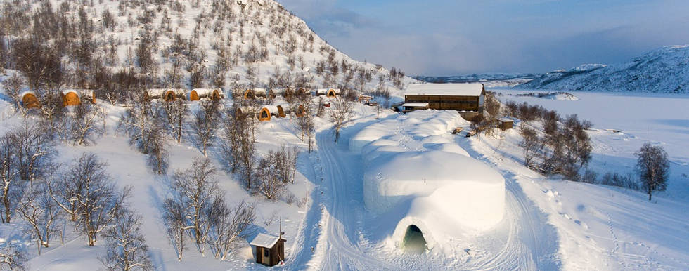 Snowhotel aerial view