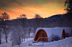 Cabin nice sunset