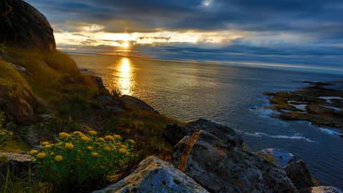 The Barents sea outside Kirkenes, Norway