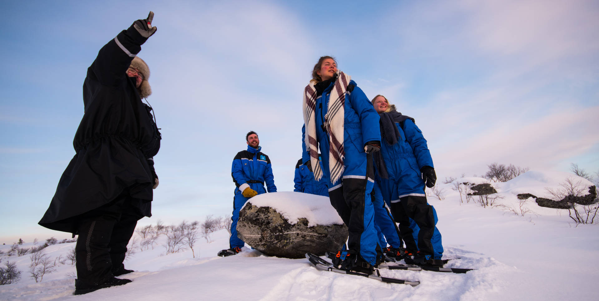 Sami guide, Snowshoe walking in Kirkenes, northern Norway