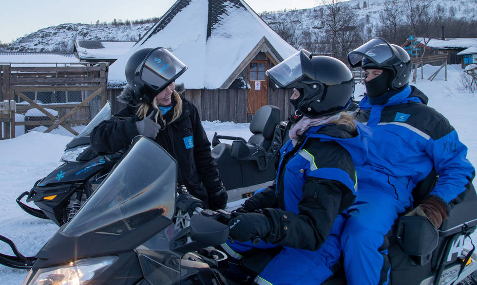 Getting ready for snowmobile tour