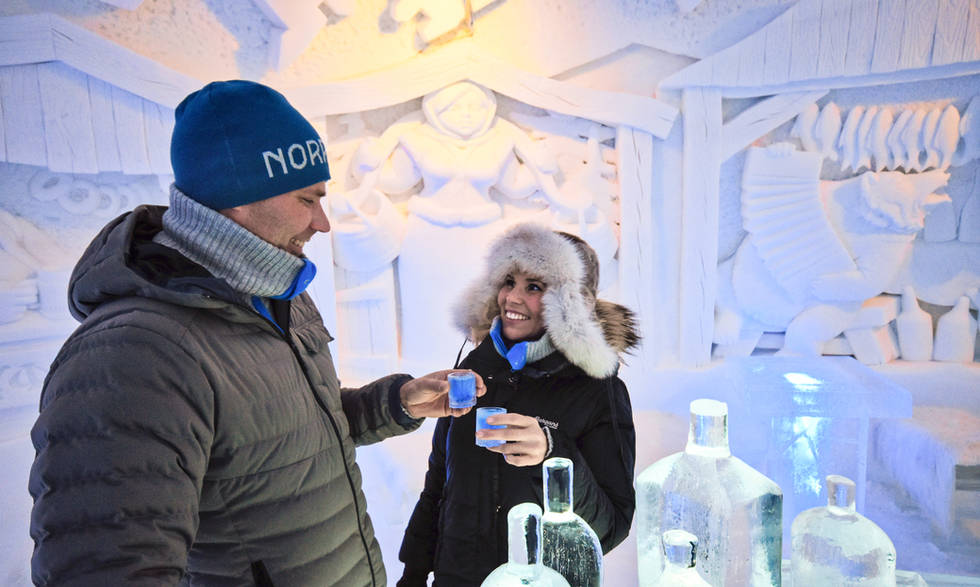 Drink in the icebar