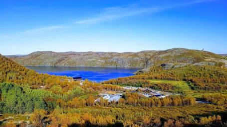Snowhotel Kirkenes view autumn