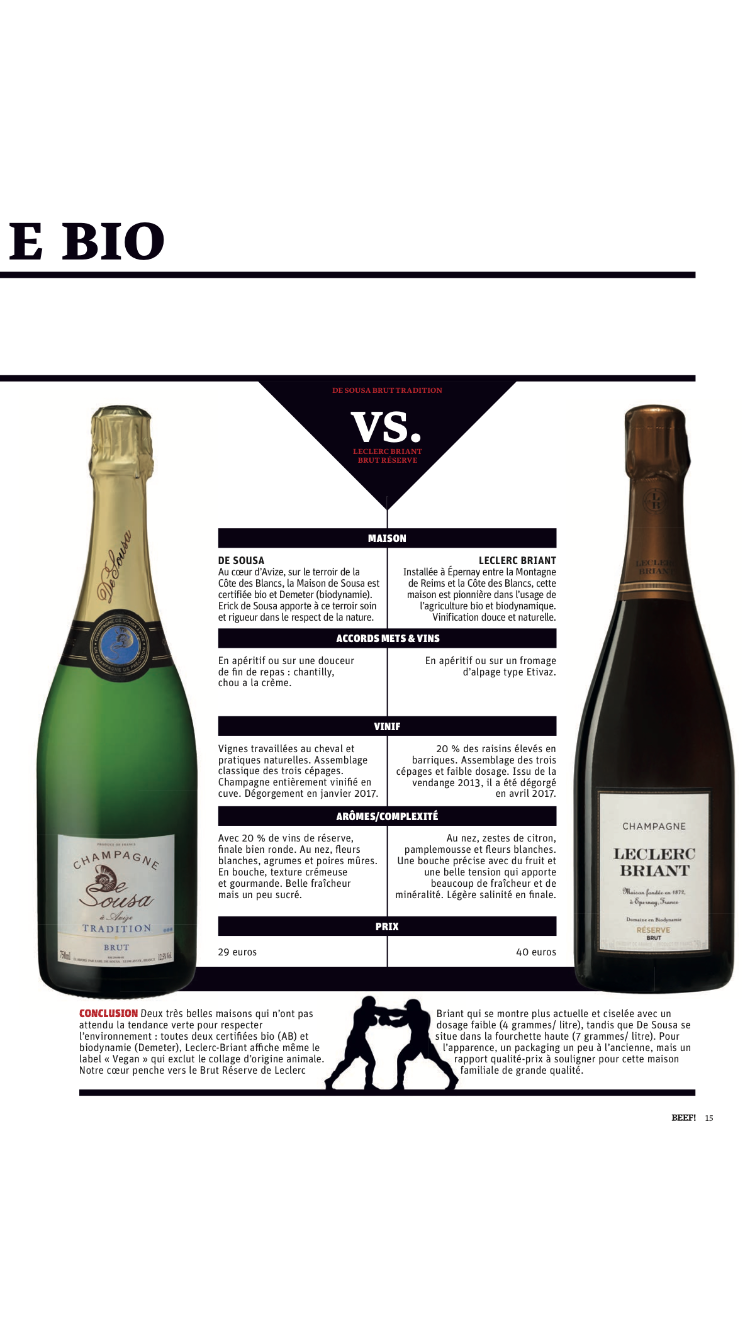 Battle de champagne bio