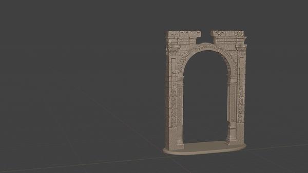 arch, arch of triumph, palmyra, digita model