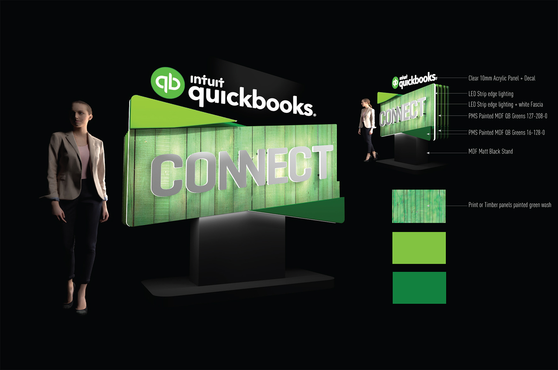 Quickbooks 3D Logo_Entrance Feature