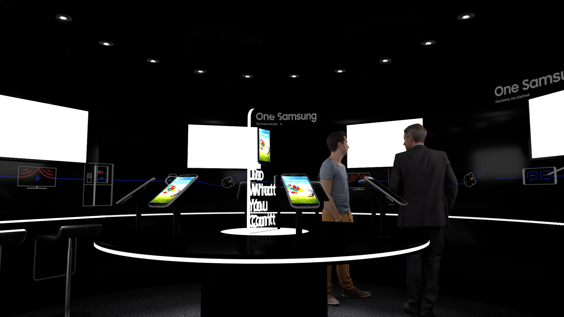Interior Hub, Samsung Brand Activation, Galaxy Studio experimental structure