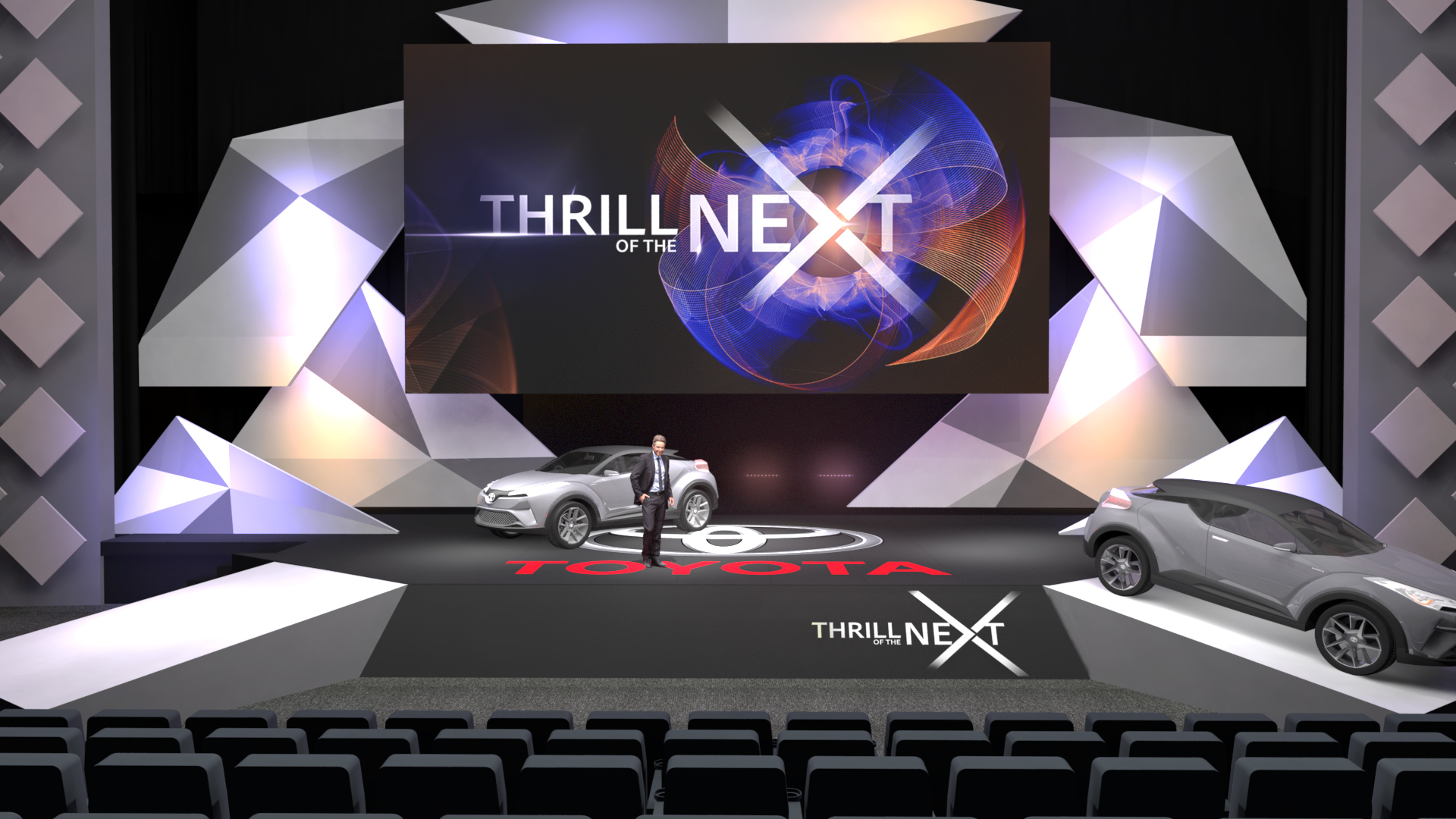 Toyota Keynote stage design