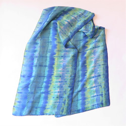 Turquoise-Blue-Green Silk Scarf
