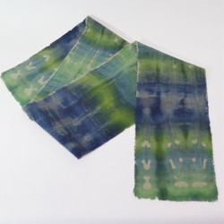 Greens and Blues wool scarf