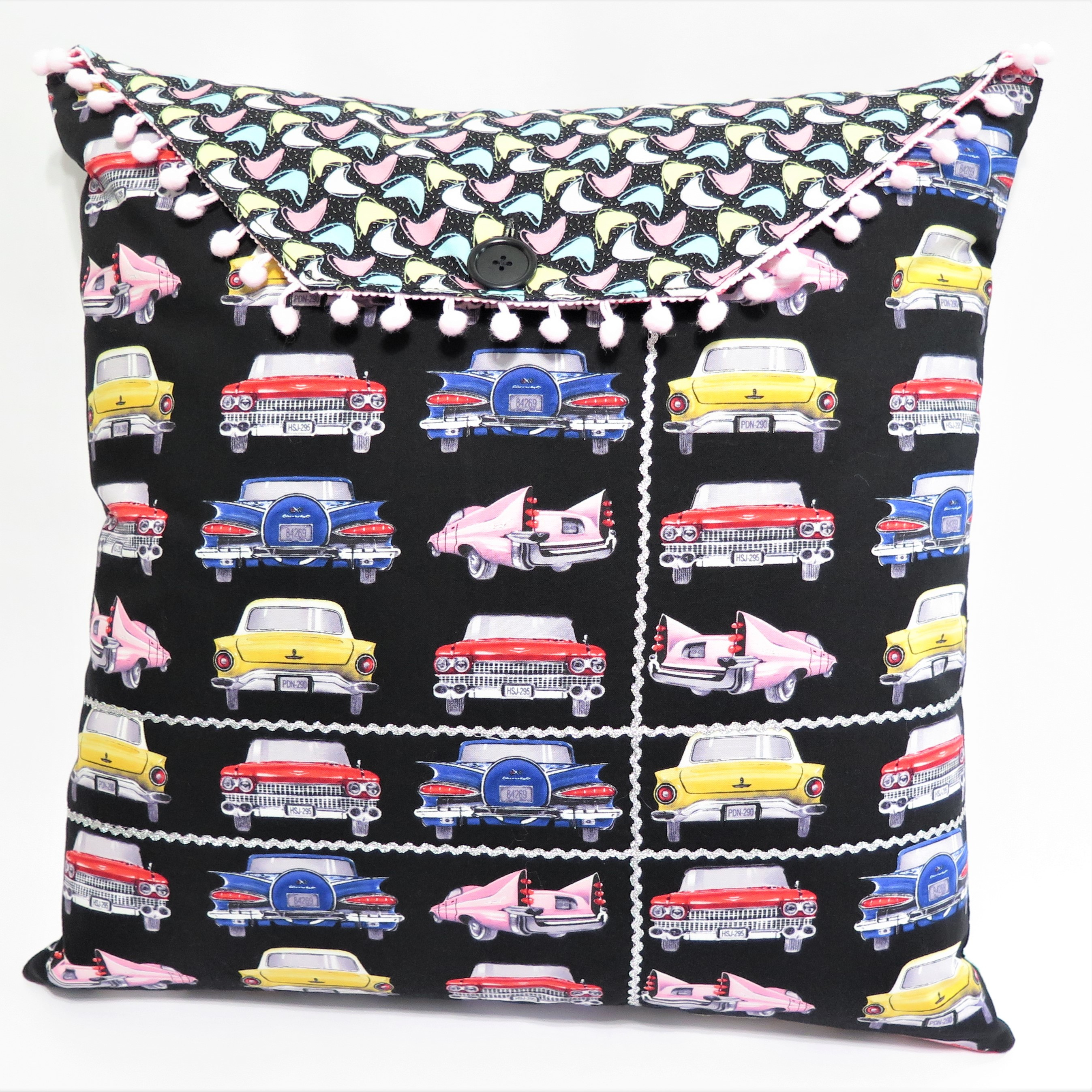 Black/Carhop Reversible Pillow Cover