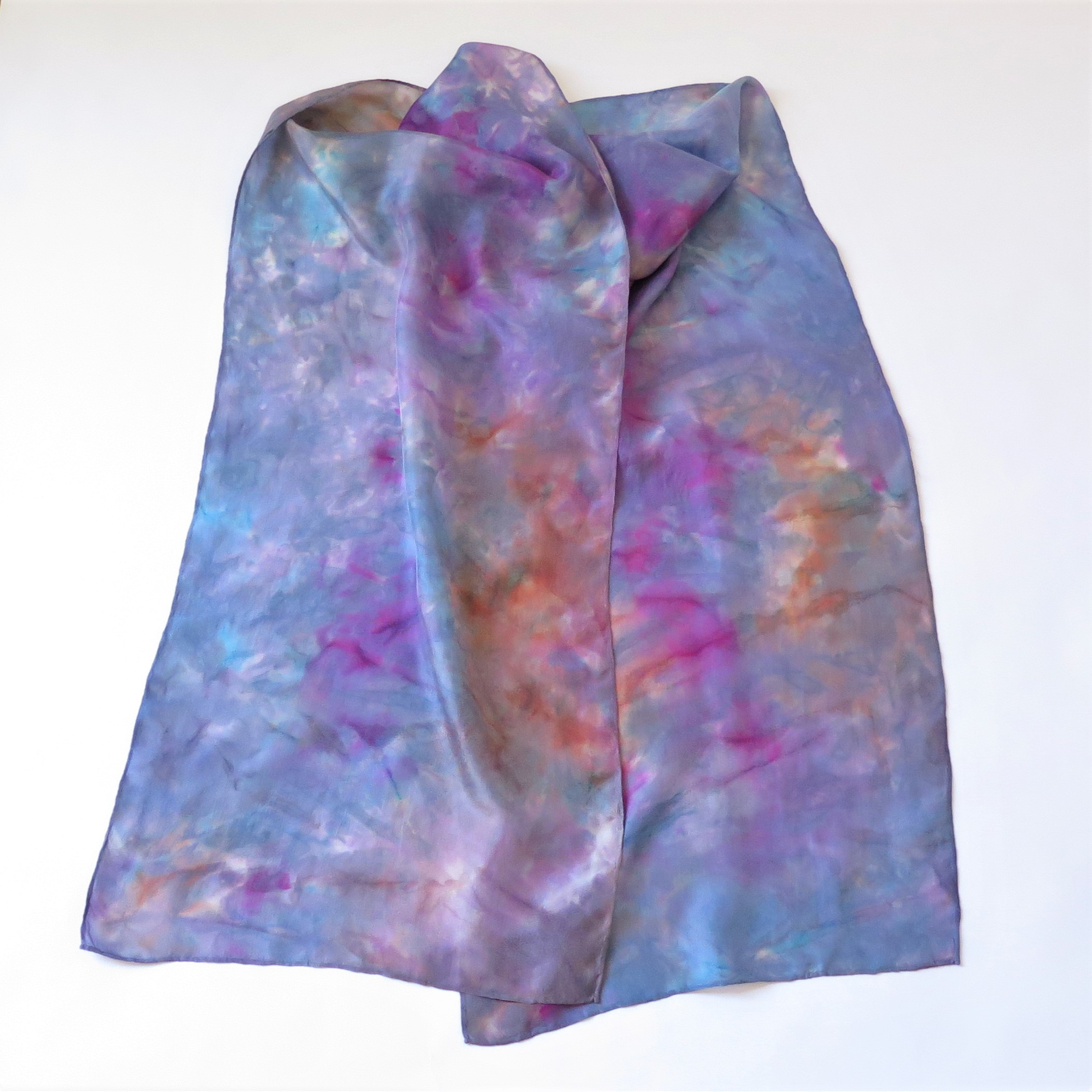 Purple-mixed Galaxy silk scarf
