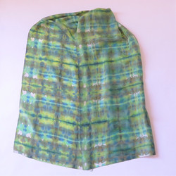 Greens and Browns silk scarf
