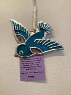 Blue Sparrow Ornament