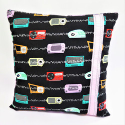 Black/Carhop Reversible Pillow Cover