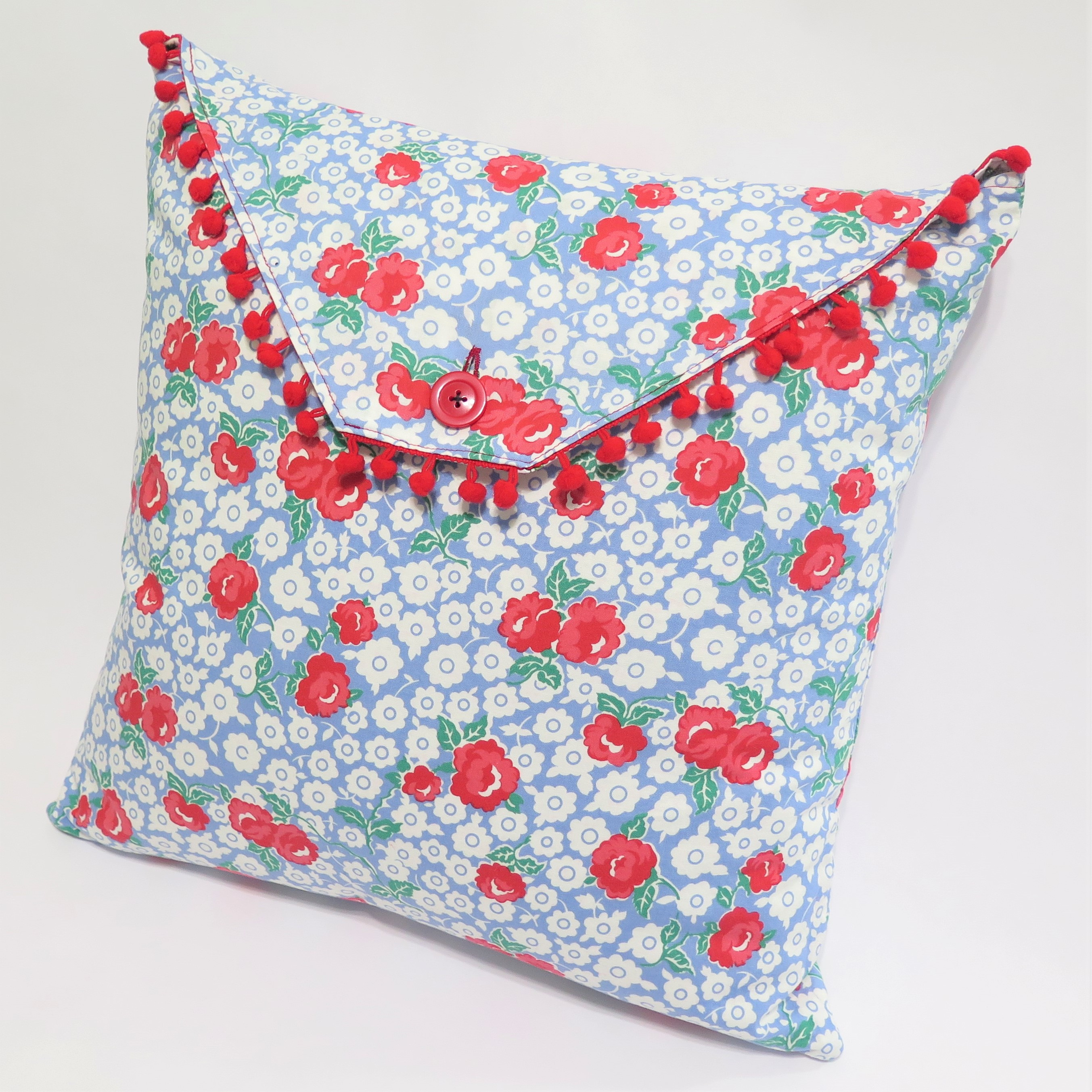 Cherry/Roses Reversible Pillow Cover
