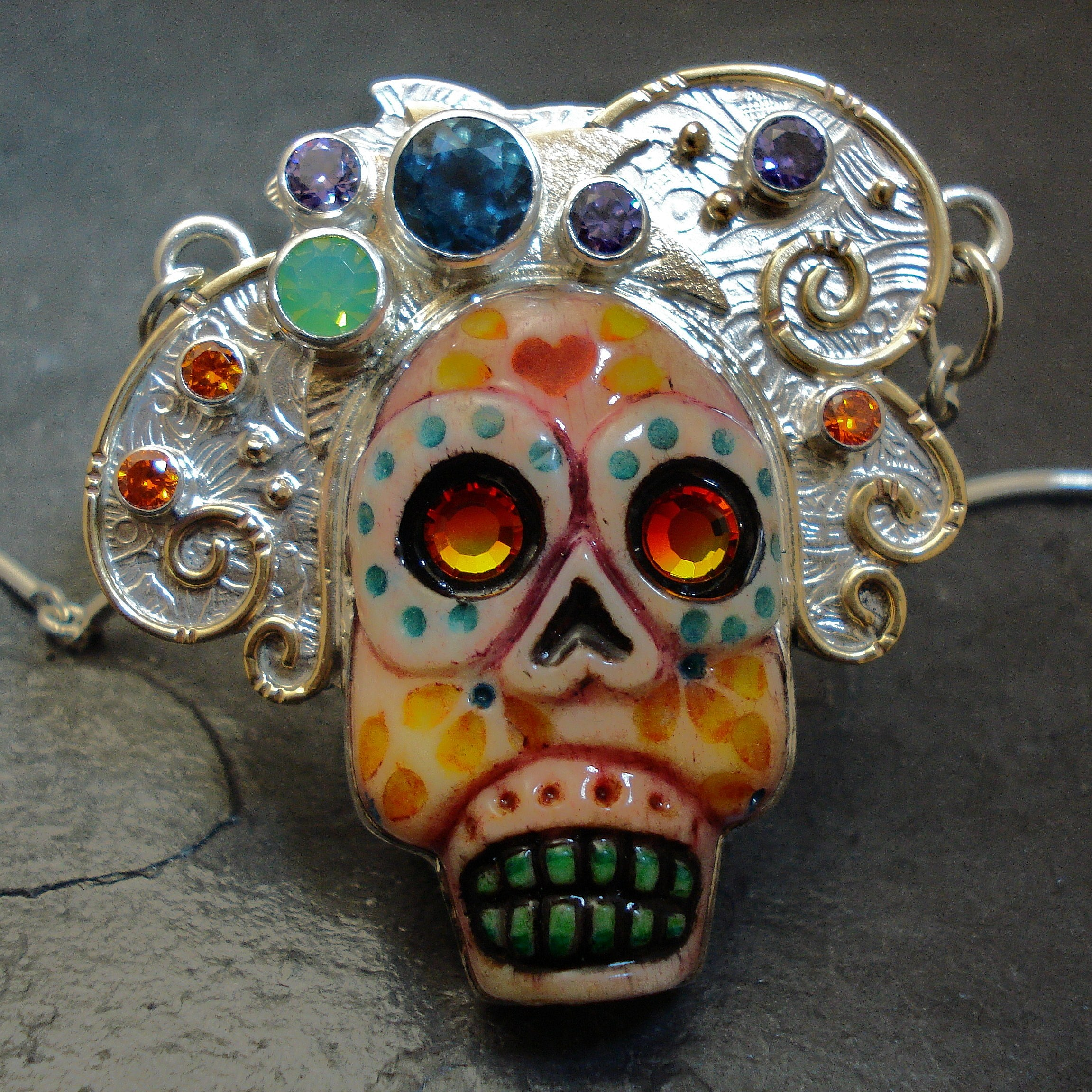 """""""Fiesta de Flora"""" sugar skull"""