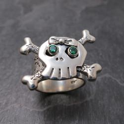 Custom- girlie Skull ring