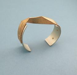Mitered riveted cuff bracelet