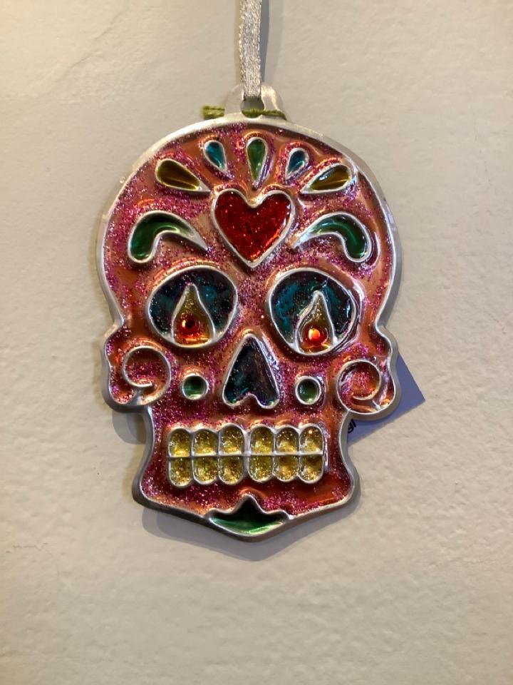 Pink Skull Ornament
