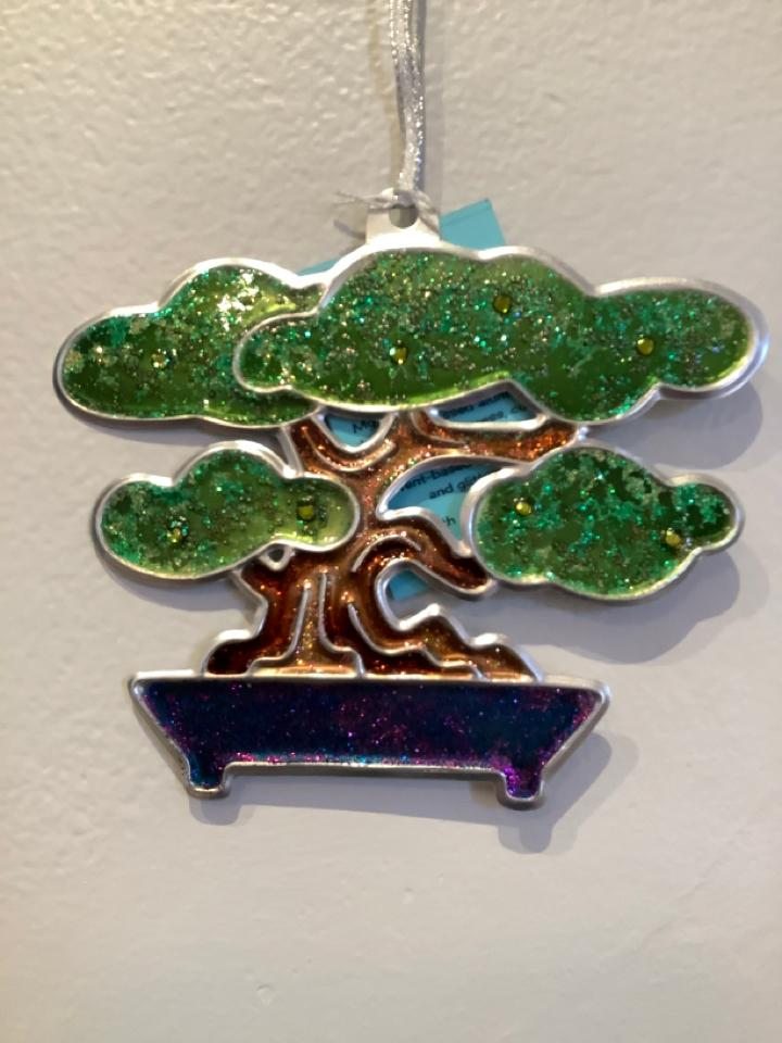 Green Bonsai Tree Ornament