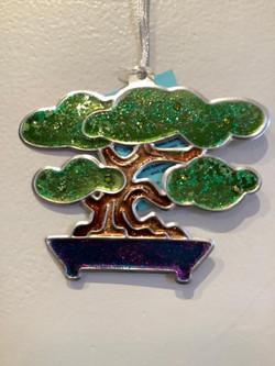 Green Bonsai Tree Ornament