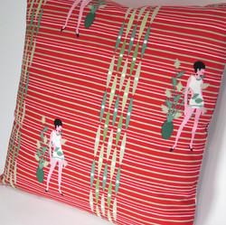 Flower/Ladies Reversible Pillow Cover