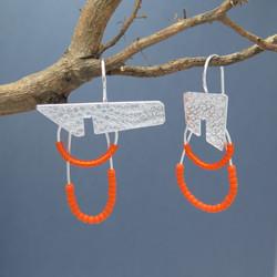 Modern Architecture in Orange earrings