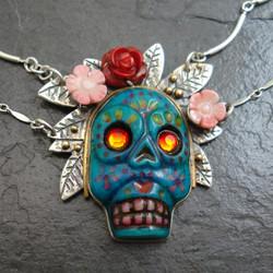 """Reina de Turquesa"" sugar skull"