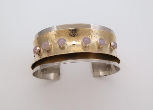 Anticastic layered cuff bracelet