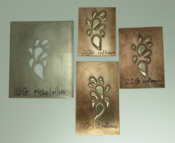 Pierced nickel embossing/silhouette