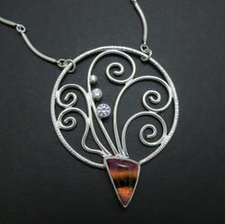 Fern spray necklace