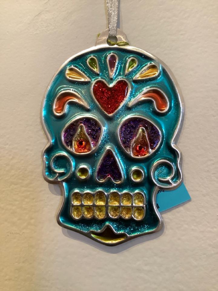 Turquoise Skull ornament