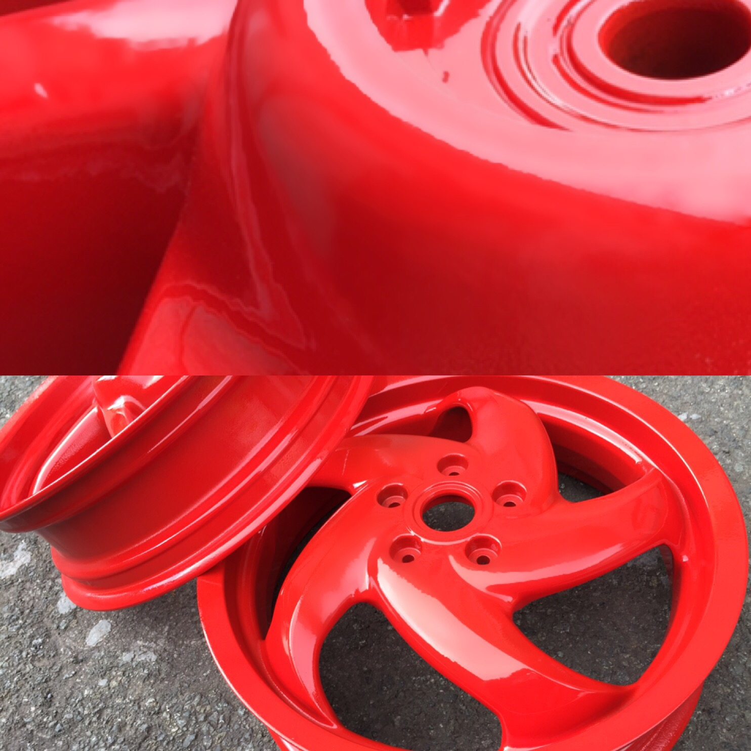 Red - High Gloss finish
