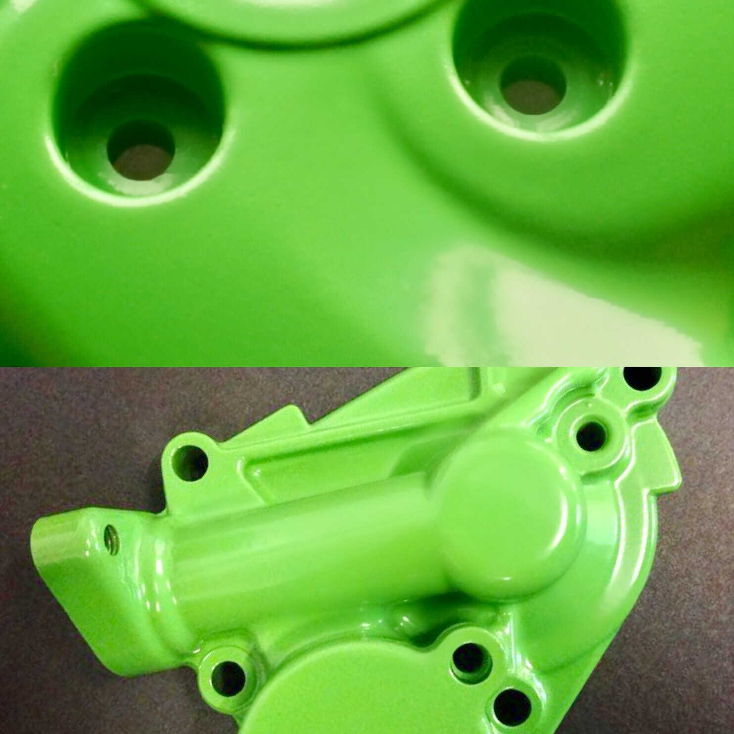 Green - High gloss finish