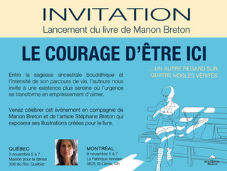 Lancement du livre                                      LE COURAGE D'ÊTRE ICI
